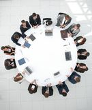 View from the top.meeting business partners for round - table. Royalty Free Stock Photo