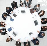 View from the top.meeting business partners for round - table. Royalty Free Stock Images