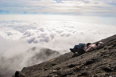 View from the top of Merapi volcano Royalty Free Stock Images