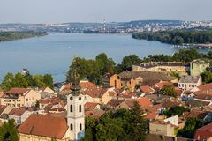 View from the top of Millennium Tower in Zemun in Belgrade, Serbia stock images