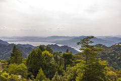 View from the top of Miyajima island, Japan Stock Photography