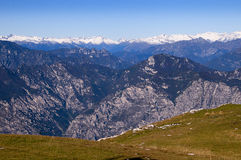 View from the top of Monte Baldo Royalty Free Stock Photography