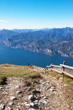 View from the top of Monte Baldo Stock Photo