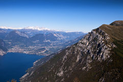 View from the top of Monte Baldo Royalty Free Stock Photos