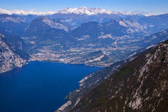View from the top of Monte Baldo Royalty Free Stock Image