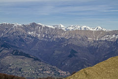 View from the top of Mount Ceppo Stock Photography