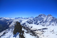View from the top of mount Cheget Stock Photo