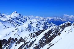 View from the top of mount Cheget Royalty Free Stock Photography