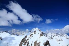 View from the top of mount Cheget Stock Photography