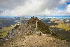 View from the top of Mount Errigal, Co. Donegal.  stock photos