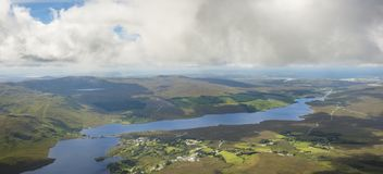 View from the top of Mount Errigal, Co. Donegal.  stock image