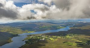 View from the top of Mount Errigal, Co. Donegal.  royalty free stock photography