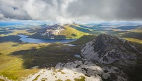 View from the top of Mount Errigal, Co. Donegal.  royalty free stock photos