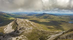 View from the top of Mount Errigal, Co. Donegal.  stock photography