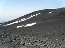 View from the top of Mount Etna, Sicily stock photography
