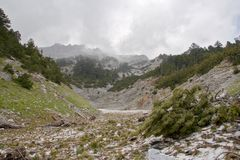 A view of a top of mount Olympus. A view of a top of mount stock photo