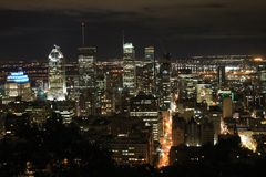 Cityscapes Montreal Night Royalty Free Stock Photo
