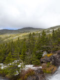 View of Top of  Mount Washinton area via Ammonoosuc ravine trail. View of top of Mount Washington area via Ammonoosuc ravine trail, Coos County, New Hampshire Stock Photo