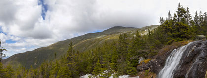 View of Top of  Mount Washinton area via Ammonoosuc ravine trail. View of top of Mount Washington area via Ammonoosuc ravine trail, Coos County, New Hampshire Stock Image