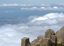 Mount Wellington in Tasmania Australia looking toward the city of Hobart stock photography