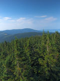 View from top of a mountain. Mountain landscape royalty free stock images