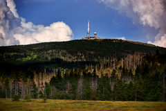 view on top of mountain Brocken royalty free stock photography