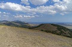 View from the top of a mountain. Crimea. Royalty Free Stock Images