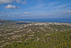 View from the top of the mountain filerimos Royalty Free Stock Images