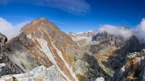 View from the top of the mountain in the High Tatras, Slovakia Stock Photos