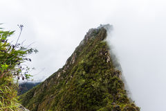 A view of the top of the mountain Huayna Picchu Royalty Free Stock Photography