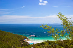 View from the top of the mountain in Koh Lan Royalty Free Stock Images