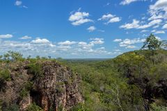 View from the top of the mountain in Litchfield and Kakadu National Park in Australia stock photography