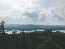 View from the top of the mountain royalty free stock image