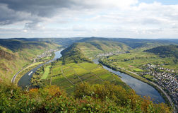 Mosel river valley Royalty Free Stock Images