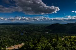 View from the top of a mountain in NY state Stock Image