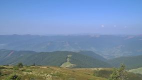 View from the top of a mountain stock video footage