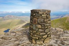 View from the top of the mountain, Snowdonia royalty free stock photos