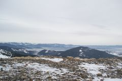 View from the top of the mountain Royalty Free Stock Photo