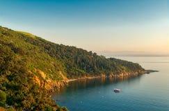 View from the top of mountains of Buyukada island, Marmara Sea, Istanbul, Turkey Stock Photo