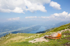 View From Top of Mt. Mirnock Down Into The Valley & Lake Millstatt Royalty Free Stock Photo