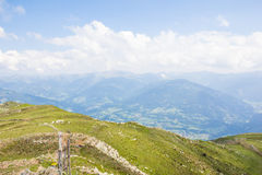 View From Top Of Mt. Mirnock To Priedröf & Nocky Mountains Royalty Free Stock Photos
