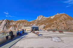 View on the top of Mt. Pilatus Royalty Free Stock Photos