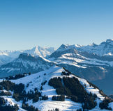 View from the top of Mt. Rigi, Switzerland Stock Photography