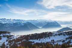 View from the top of Mt. Rigi, Switzerland Royalty Free Stock Image