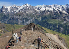 View on the top of Mt Schilthorn Royalty Free Stock Photos