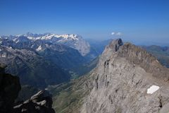 View from the Top of Mt Titlis Stock Photos