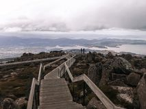 View from top of mt wellington tasmania lookout stock photo