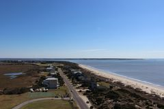 View from the top of the Oak Island Lighthouse royalty free stock image