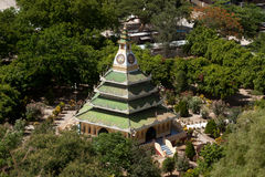 View from top of pagoda looks out Mingun sayadaw zayat. Stock Image