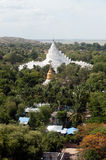 View from top of the pagoda looks out on Mya Theindan pagoda. Stock Photos